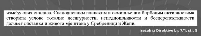 Isečak iz Direktive br. 7/1, strana 8